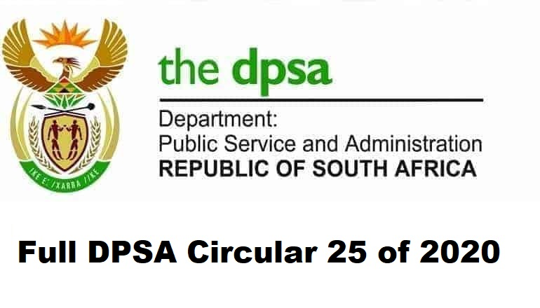 Full DPSA Circular 25 of 2020