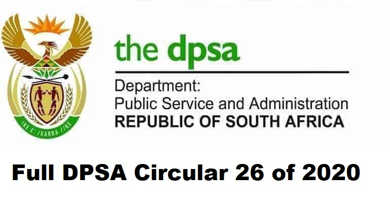 Full DPSA Circular 26 of 2020
